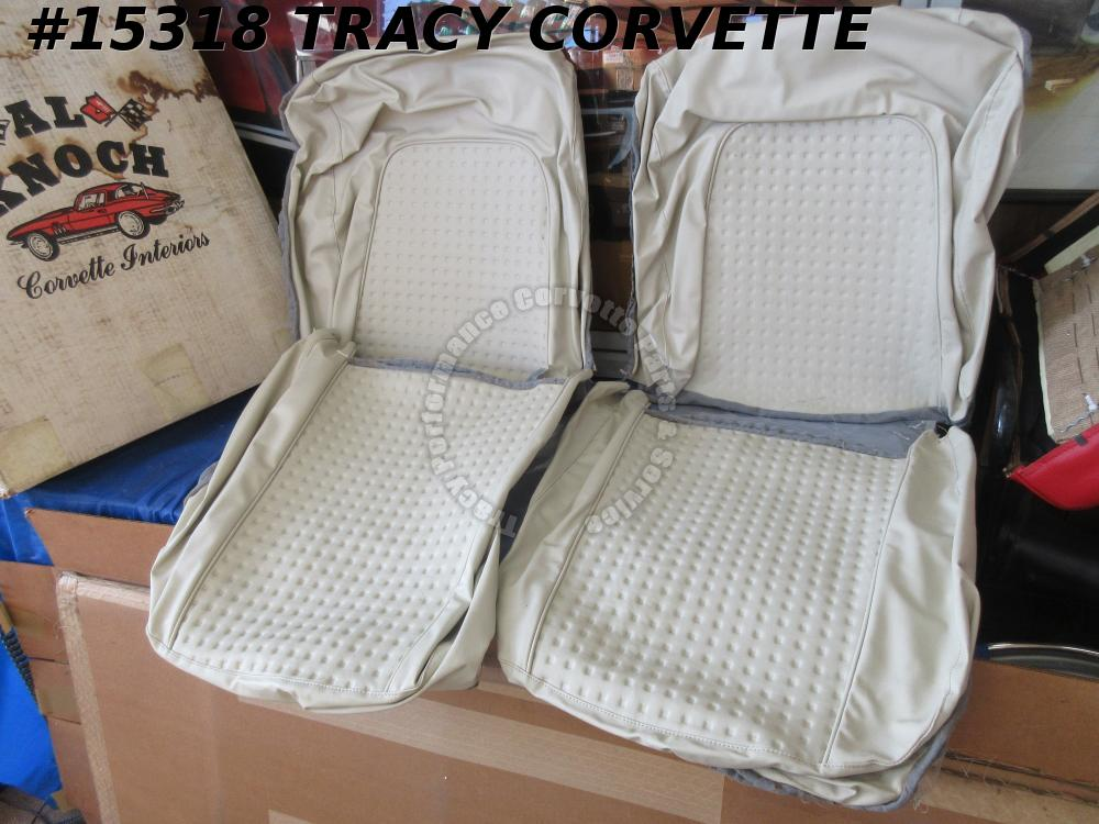 1956-1957 Corvette Vinyl Seat Cover Set w/ Correct Waffle Pattern By Al Knoch In