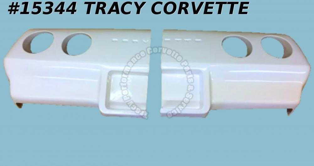 1974 Corvette Rear Bumper GM# 339195 Two Piece Split Style  HandLayUp Fiberglass