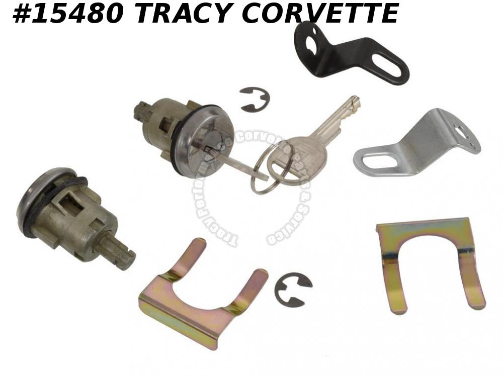 1981-1982 Corvette Door Lock With Pawls And Keys 19467