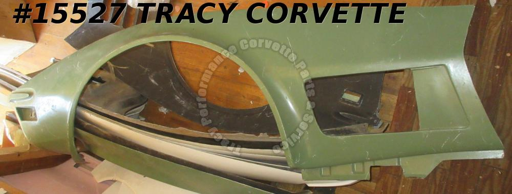 1970-1972 Corvette Front Side Fender Fiberglass Left 3977865 Green HLU  Seconds