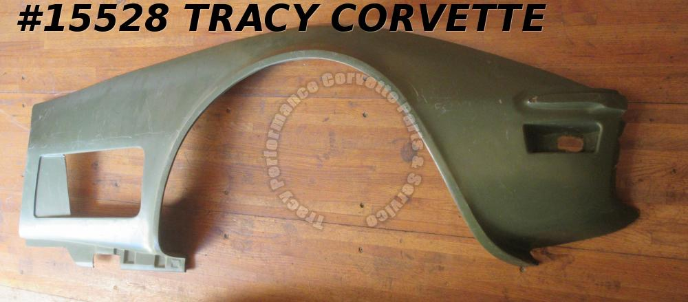 1970-1972 Corvette Front Side Fender Fiberglass Right 3977866 Green HLU  Second