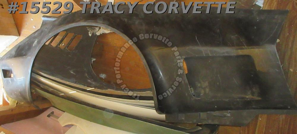 1973-1979 Corvette Front Side Fender Fiberglass Left GM# 327653 Black HLU