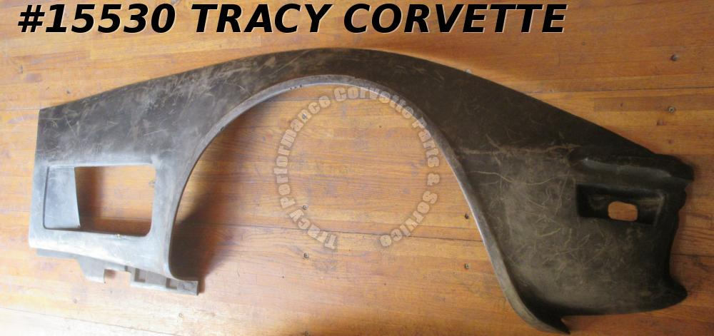1973-1979 Corvette Front Side Fender Fiberglass Right GM#327654 Black HLU SECOND