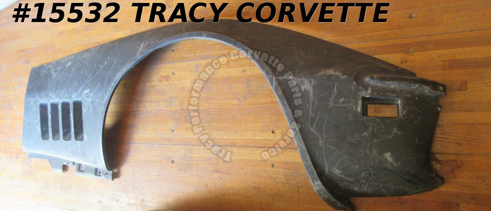 1968-1969 Corvette Side Panel Fender Lower RH 3963182 Black Fiberglass *Rare*