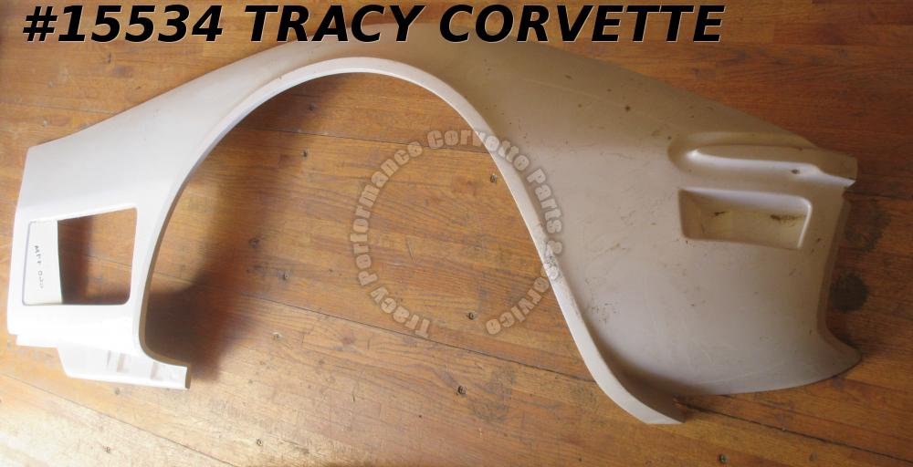 1970-1972 Corvette Front Side Fender Fiberglass Right 3977866 White Gel Coat HLU