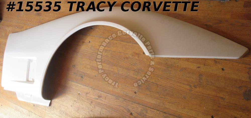 1980-1982 Corvette Front Side Fender Fiberglass RH 14030140 White Gel Coat HLU