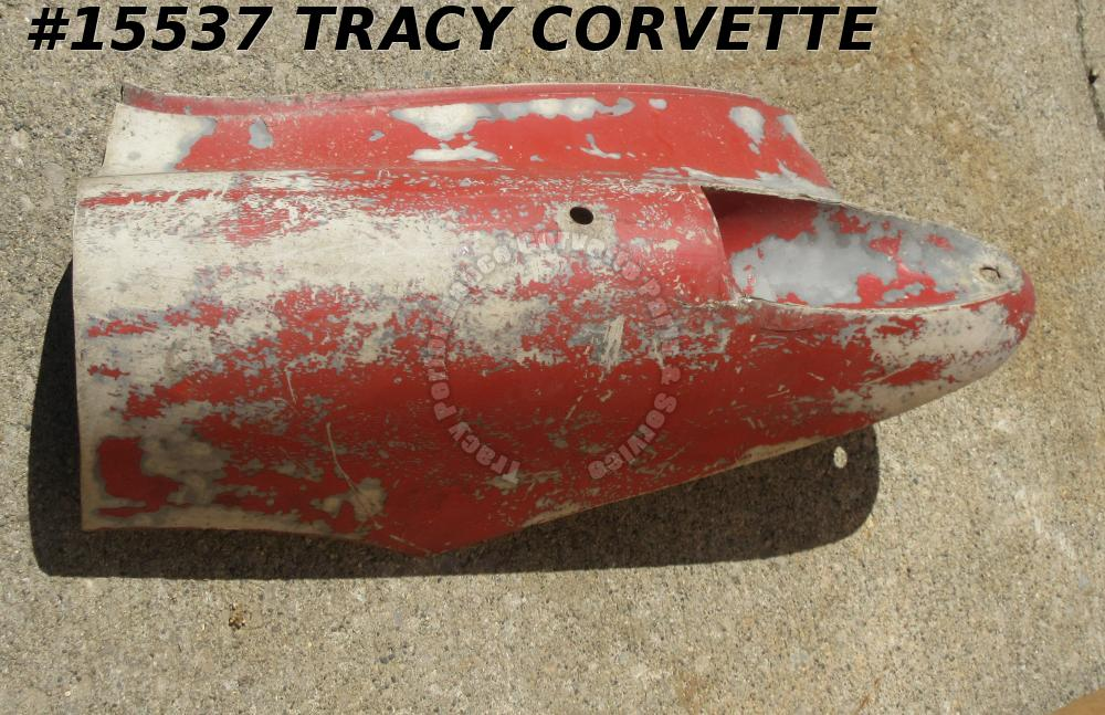 1956-1960 Corvette Left Rear Quarter Panel Tail Lamp Fiberglass Section