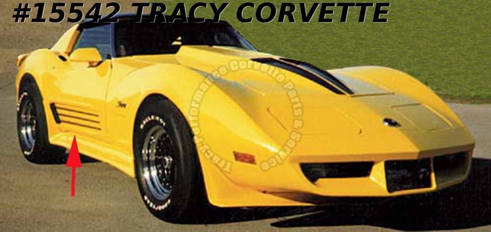 1968-1982 Corvette Aerotech Finned Door Skin Kit with Aluminium Bars and Grilles