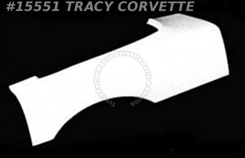 1984-1996 Corvette Coupe Rear Quarter Body Panel LH 12522021 Exc. ZR1 Fiberglass