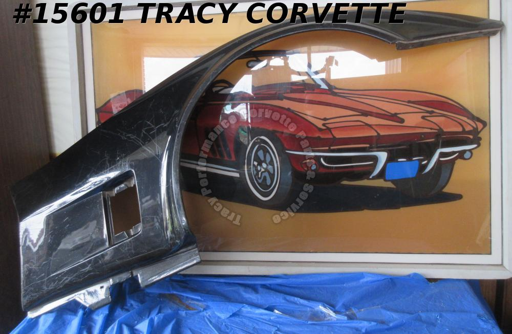 1980-1982 Corvette Fender Right Side Panel 14030139 Original SMC Fiberglass  Blk