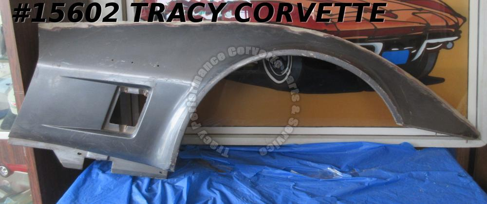 1980-1982 Corvette Fender Right Side Panel 14030139 Original SMC Fiberglass Gray