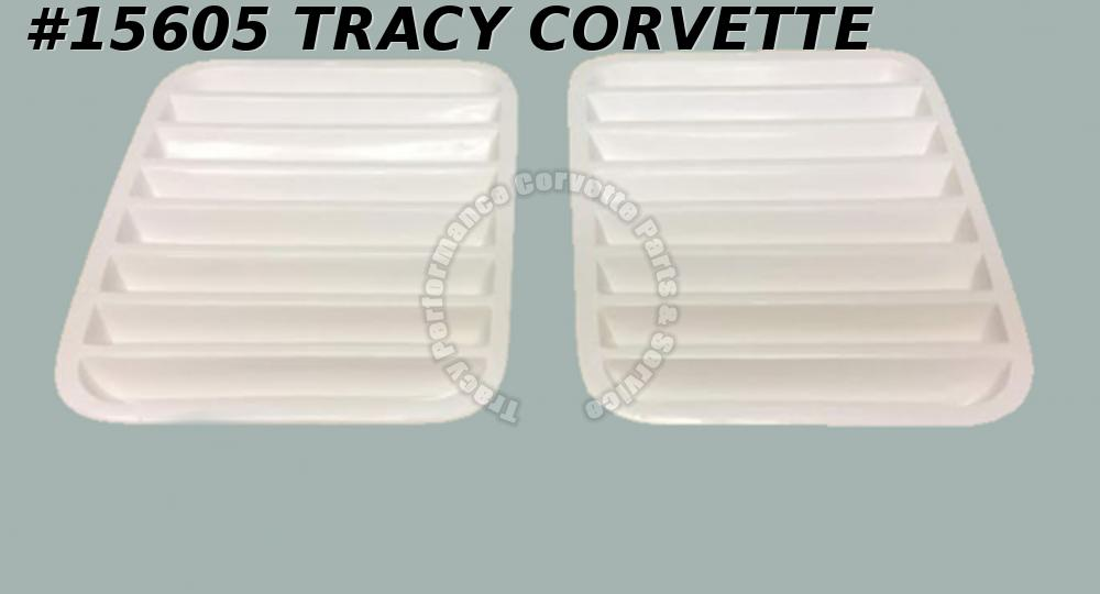 1984-1996 Corvette Hood Louvers Vents Scoops  HLU Pair Made in USA    *In Stock*