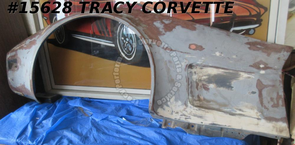1973-1979 Corvette Front Side Fender Fiberglass Left GM# 327653 **Used HLU**