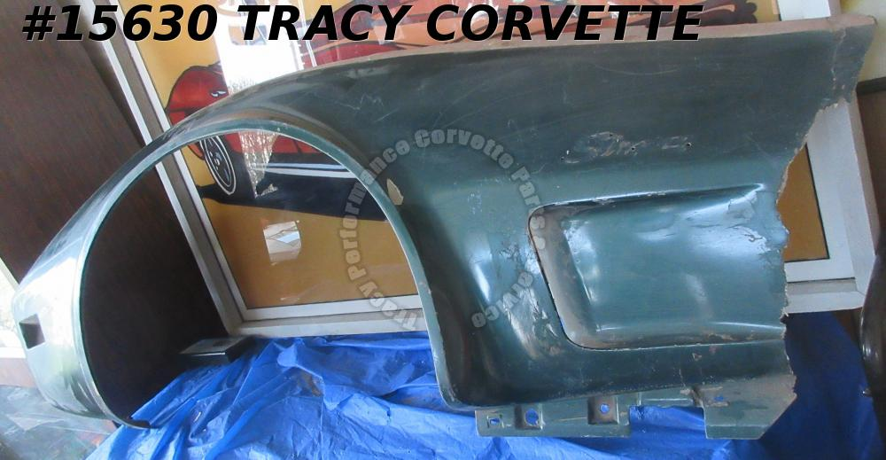 1973-1979 Corvette Front Side Fender Fiberglass Left GM# 327653 Used Original BR