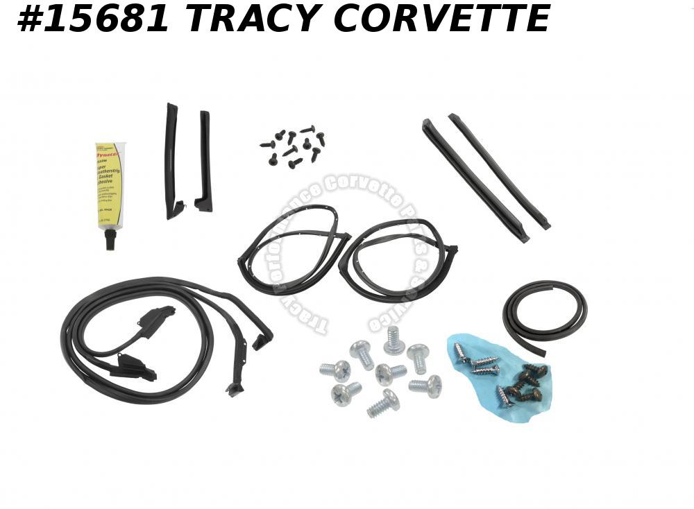 1973-1977 Corvette Weatherstrip Kit - Coupe - Body Deluxe Kit   ***InStock***