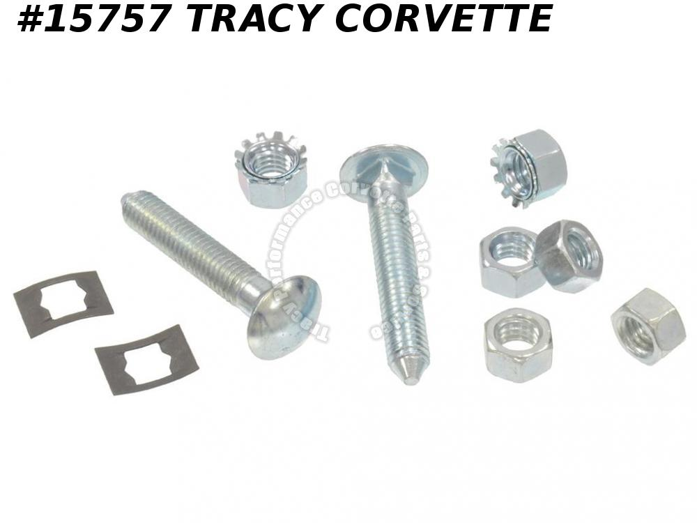 1963-1967 Corvette Gas Tank Strap Guide Bolt & Nut Kit