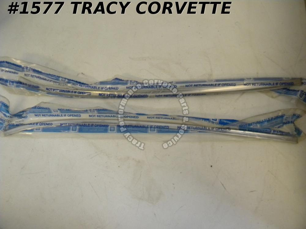 1956-1961 Corvette Upper Door Moldings/ Pair NOS 3730111 3730112