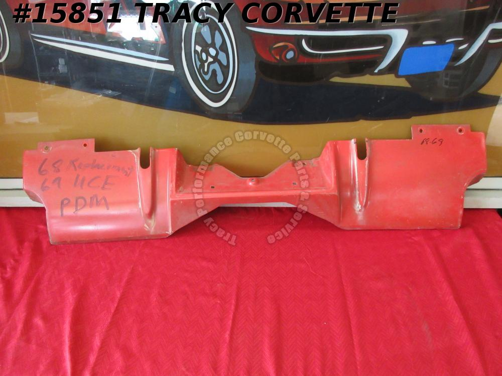 1969 Corvette Filler Panel GM# 3947974 w/ Rear Exhaust Original Fiberglass
