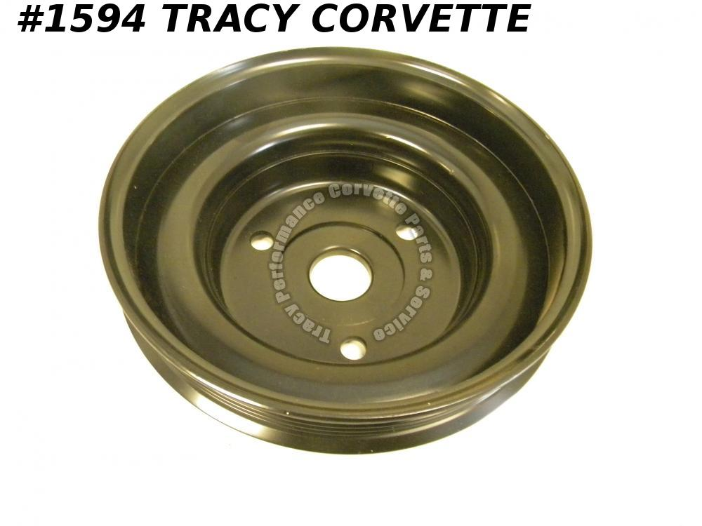 1984-1991 Corvette NOS 14055116 Lower Crankshaft Drive Pulley Steel-Stamped AMC