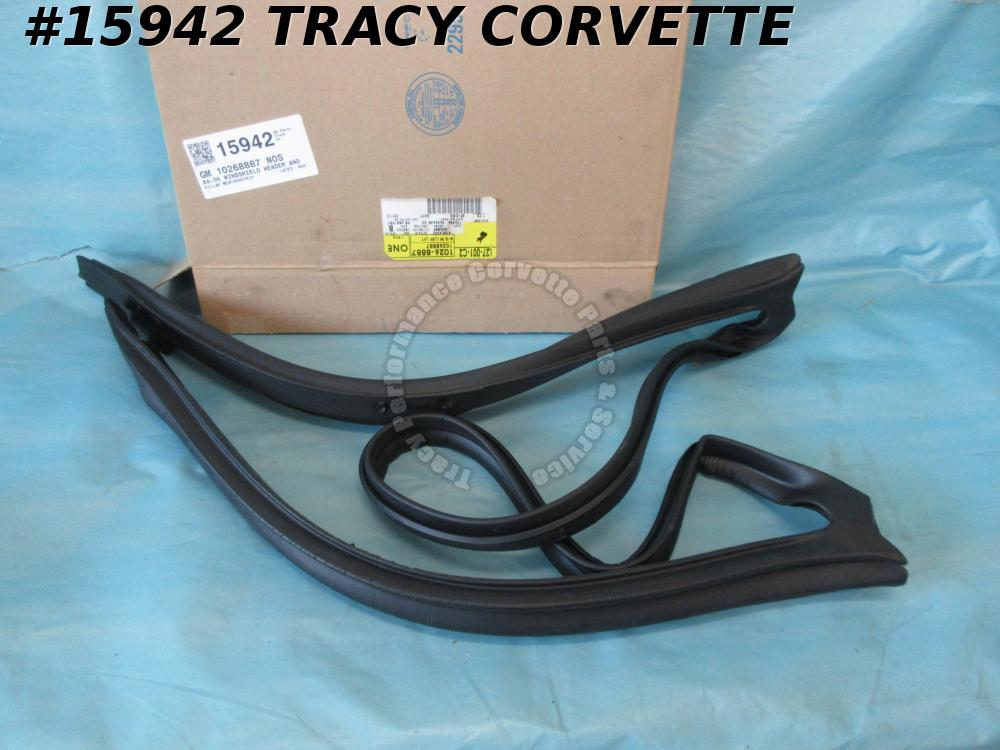 1984-1996 Corvette Weatherstrip 10268887 22112051 Windshield Header Pillar NOS