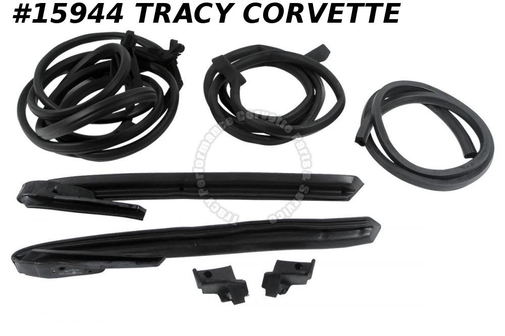 1968 Corvette Weatherstrip Kit  Body Convertible 8 Pieces