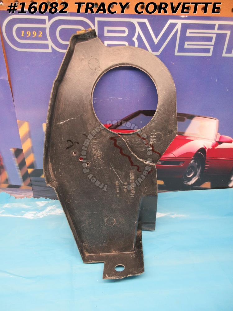1973-1982 Corvette Plenum Panel 14016060 Right Black Fiberglass NOS  **Damaged**
