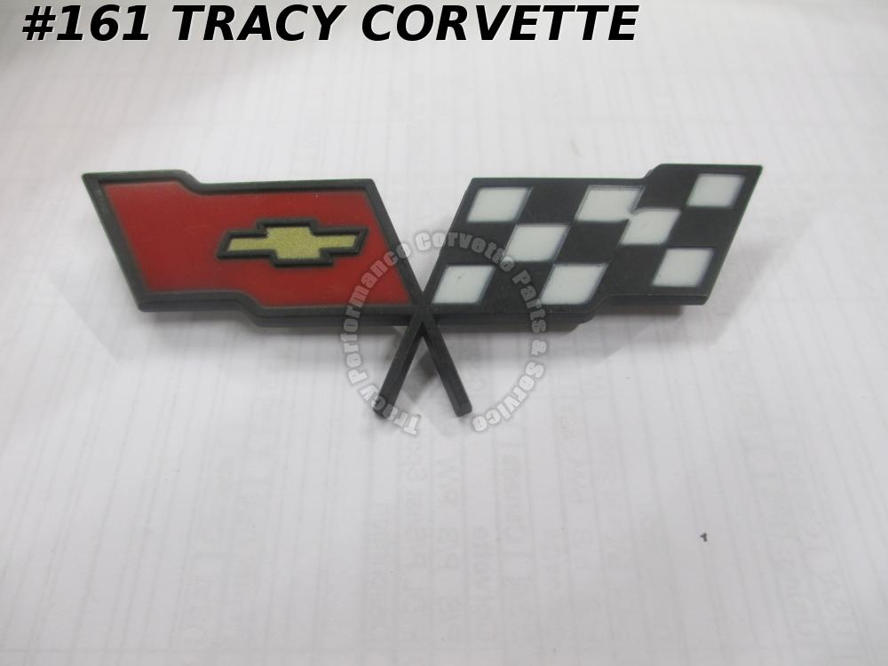 1982 Corvette NOS 14042293 Fuel Gas Door Emblem 82 Only/Not Collector's Ed