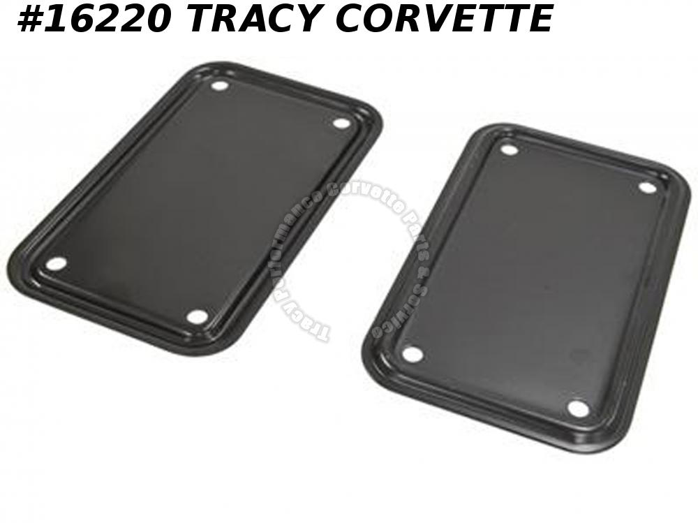 1963-1982 Corvette Rear Body Mount Access Cover GM# 3797373          Pair