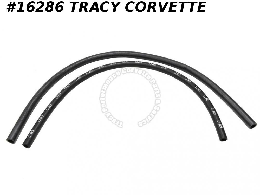 1963-1967 Corvette Heater Hose Set 5/8 Non Ribbed GM Logo 3/4 Ribbed No GM Logo