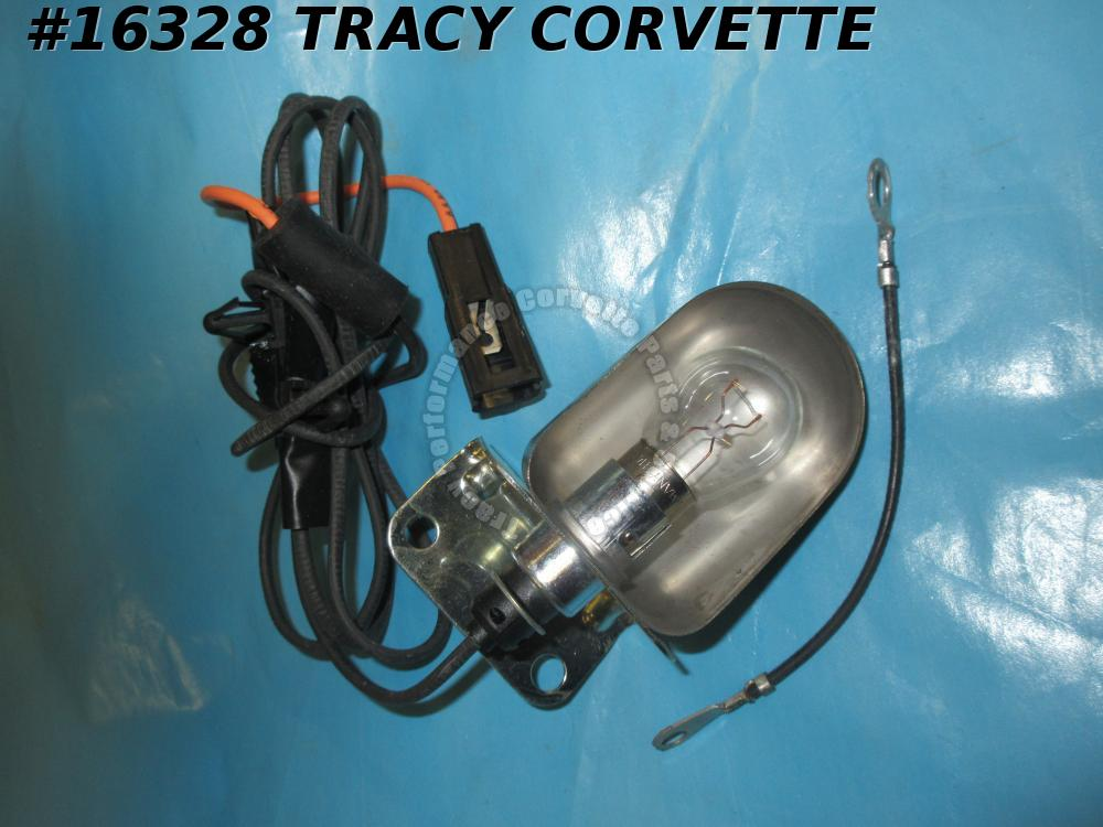 1977-1979 Corvette Under Hood Light Assembly GM# 469015   With Wire - 1977 Late