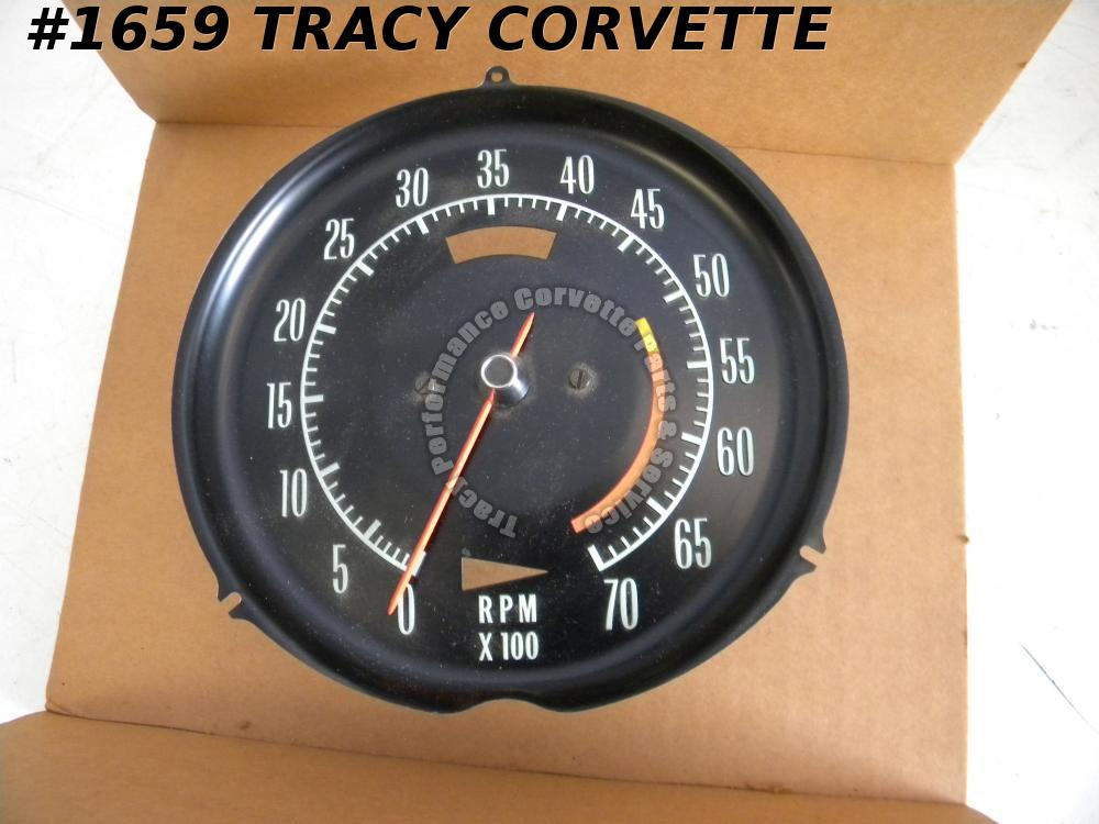 1968 Corvette NOS 6468710 5300 Red Line Tachometer 327 except Special High Perf