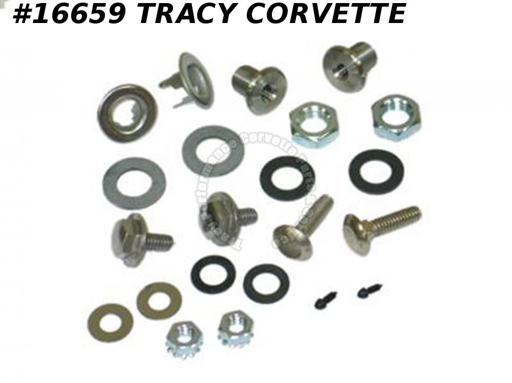 1963-1967 Corvette Hardtop Mounting Hardware Set