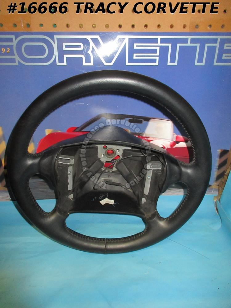 1990-1993 Corvette Leather Steering Wheel GM 10201320 with Horn Buttons **NOS**
