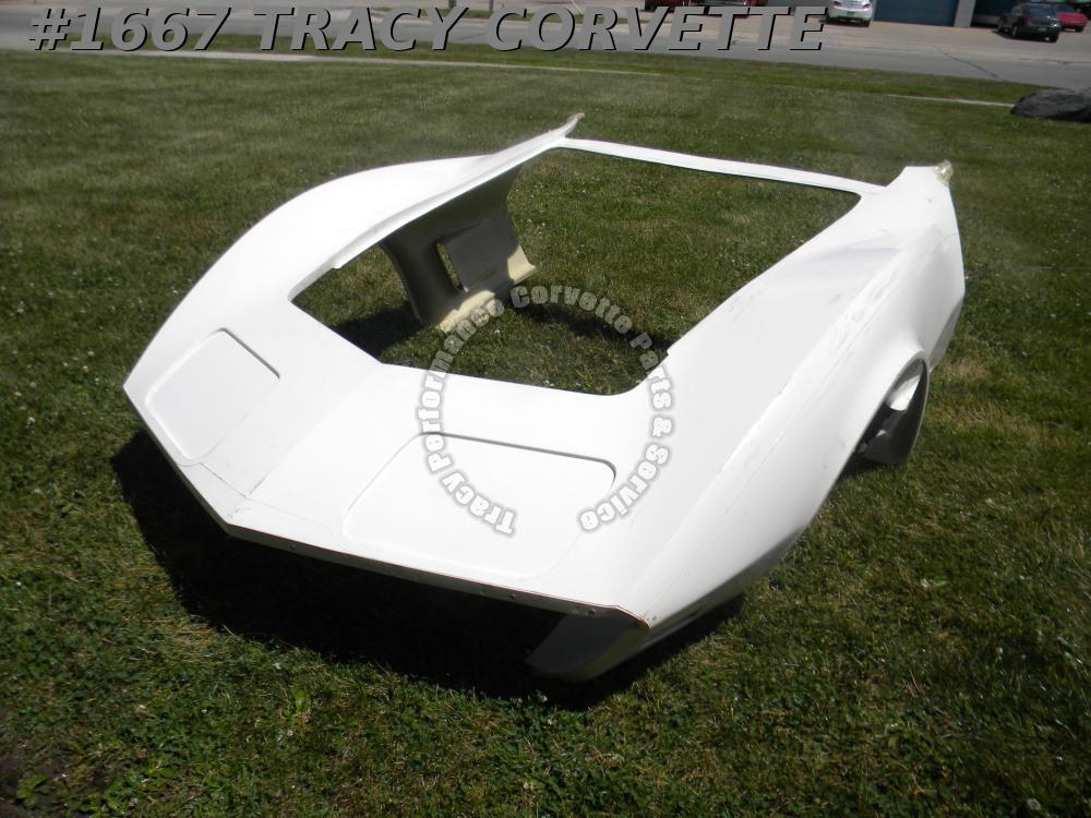 1973-1974 Corvette New 1 Piece HLU Fiberglass Front End Body Shell Door to Door
