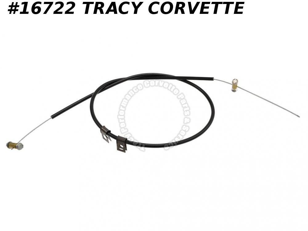 "1968 Corvette Hood Release Cable On Hood - First Design 29.25"" Black Casing"