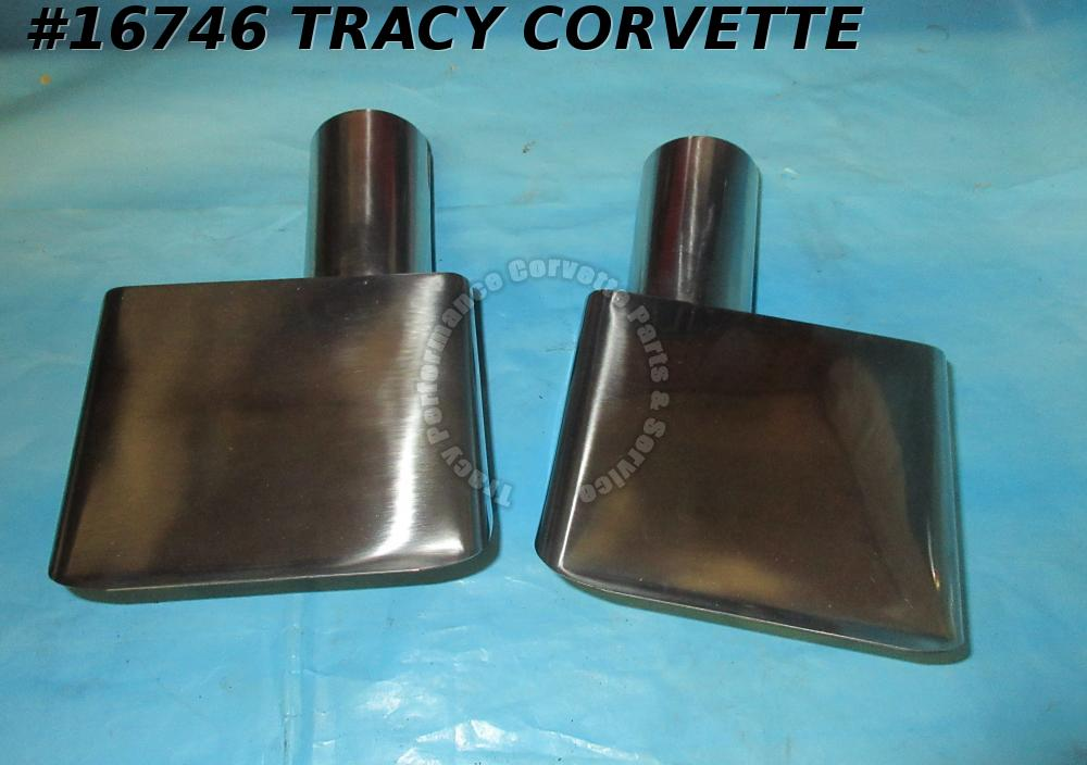 1970-1972 Corvette Stainless Steel 3974659 3974660 Exhaust Extensions Tips 70-72
