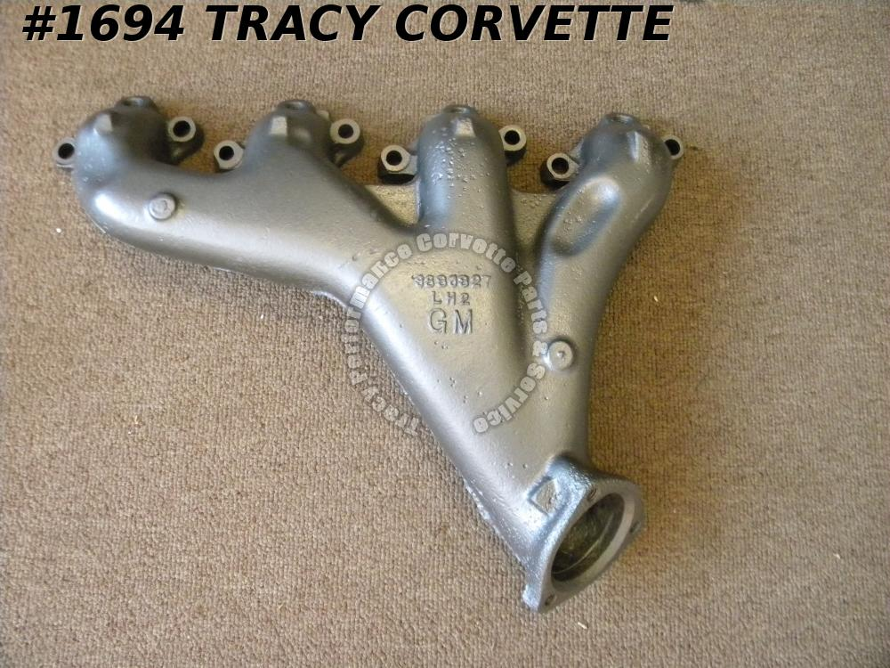 1966-1969 Corvette Used 3880827 BBC LH Exhaust Manifold w/Smog AIR Holes DATES
