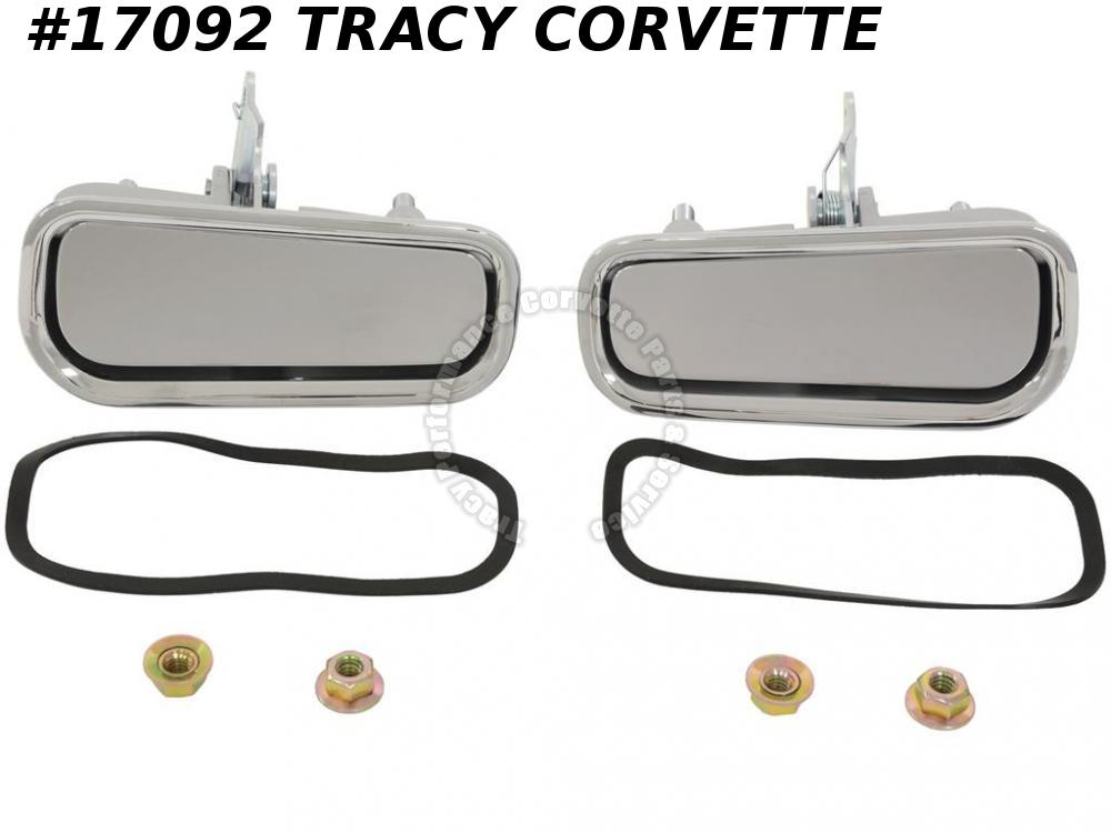 1969-1982 Corvette Exterior Door Handles 9718410 14011820 9718411 14011819 Pair