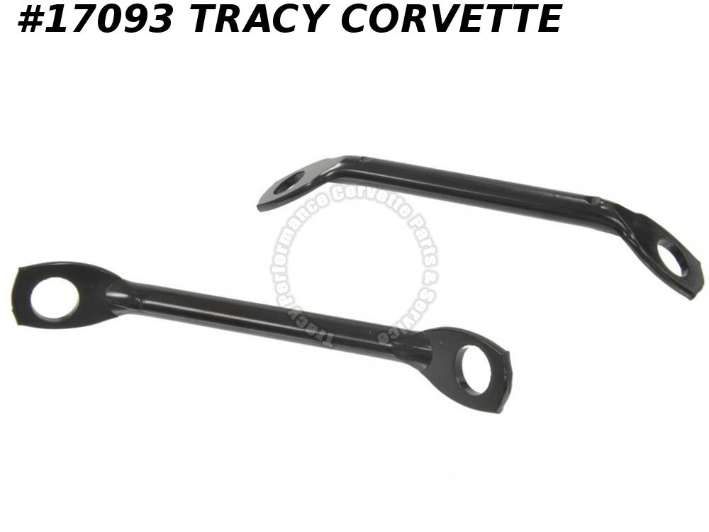 1963-1967 Corvette GM# 3797421 Rear Lower Inner Bumper Support Rod  (pair)