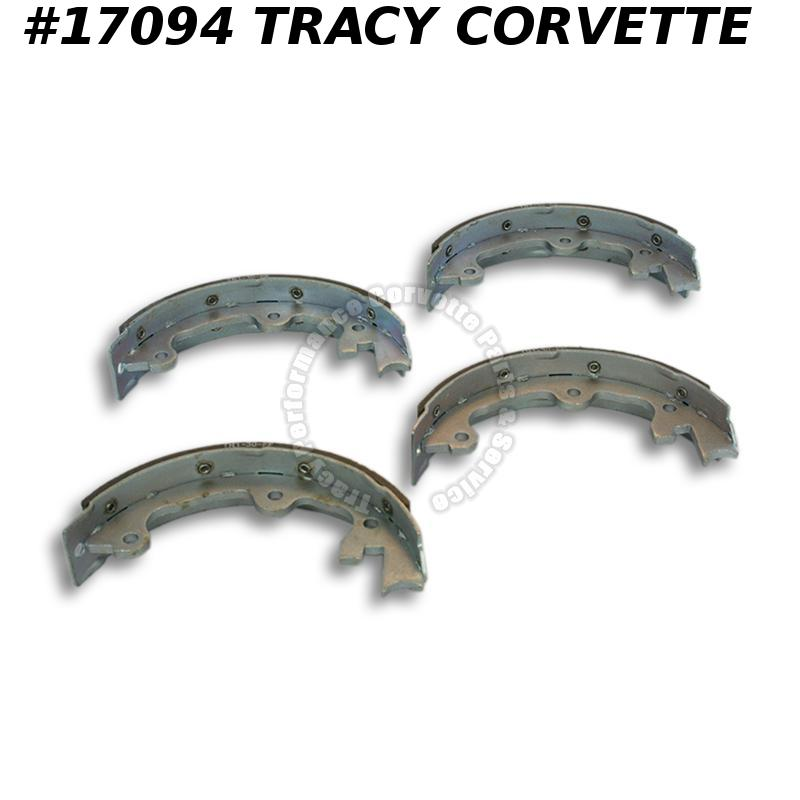 1965-1982 Corvette Parking / Emergency Brake Shoe Set - Stainless Steel