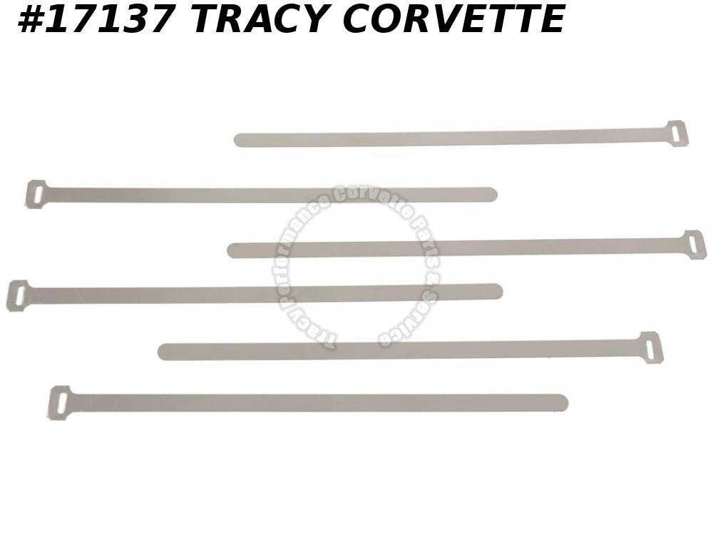 1963 Corvette Heater Hose Tie Strap GM# 3136266 Aluminum 6 Piece Set