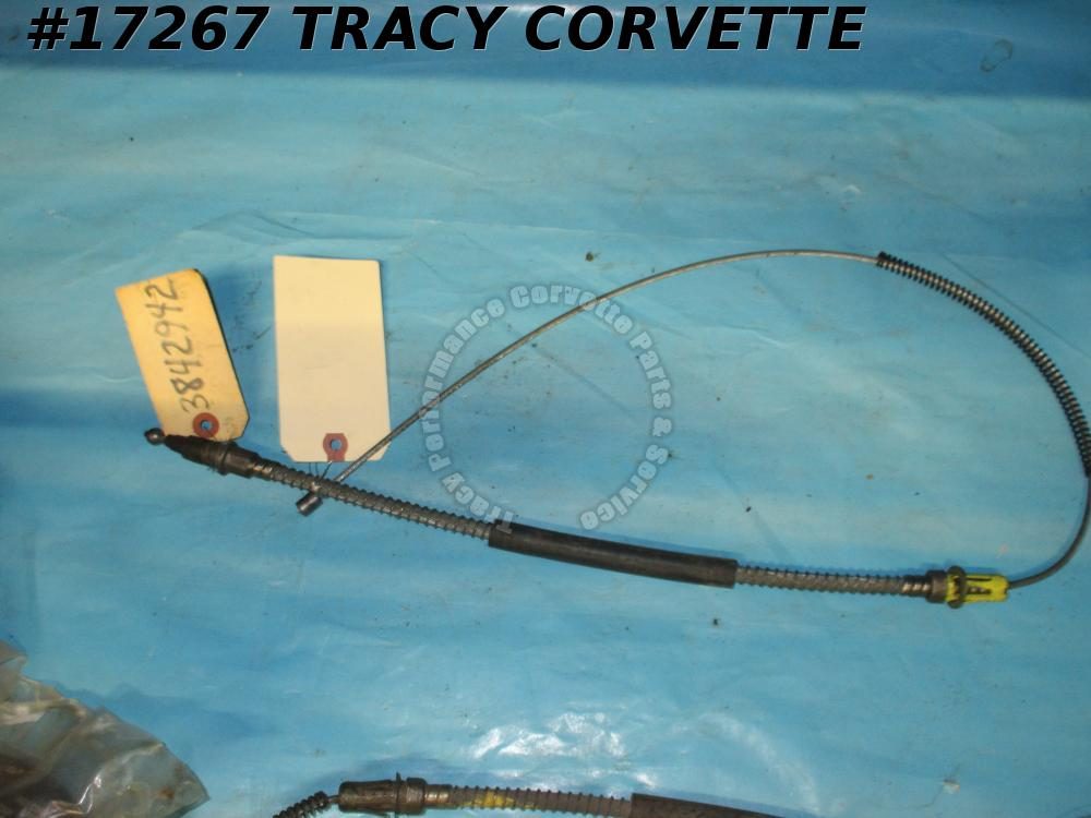1964-1965 Corvette Parking Emergency Brake Cable 3842942 Right w/ Rear Drums NOS