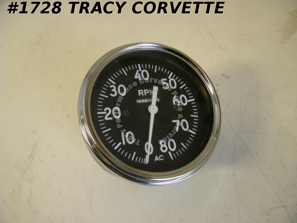 1956 1957 Corvette SRII Black Widow Rebuilt 8000 RPM AC Racing Cable Tachometer