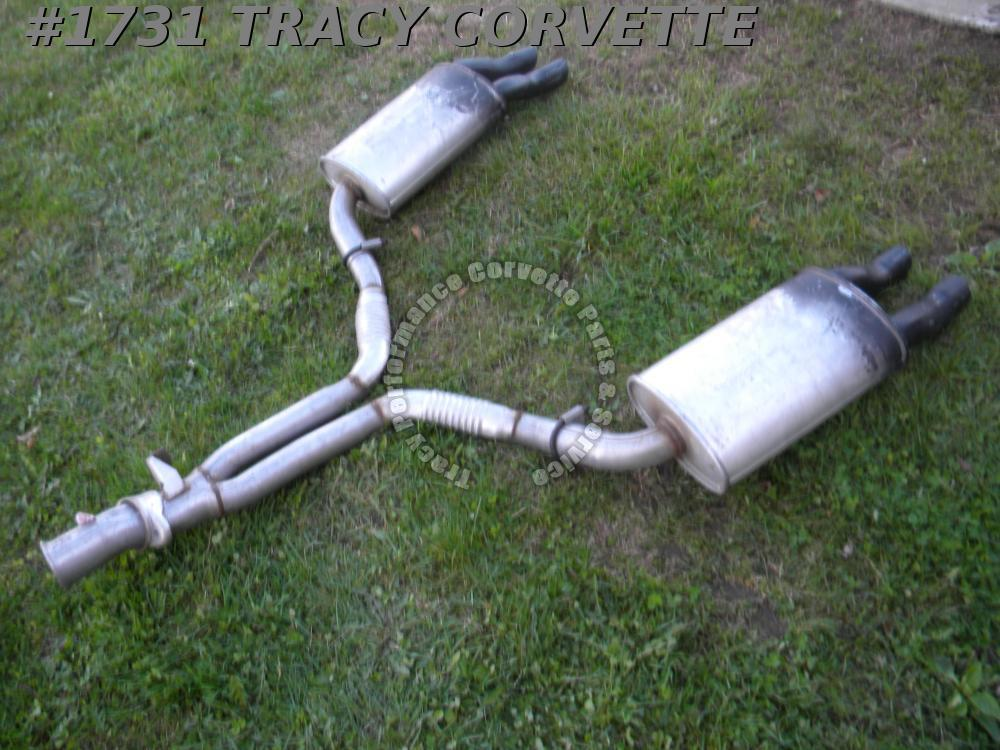 1986-1990 C4 Corvette NOS Rear Exhaust Y Pipe w/Mufflers Not Exact for All Years