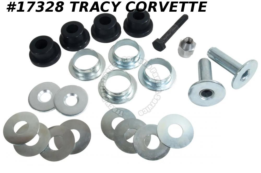 1963-1982 Corvette Rear Trailing Control Arm Bushing Kit Polyurethane Both Sides