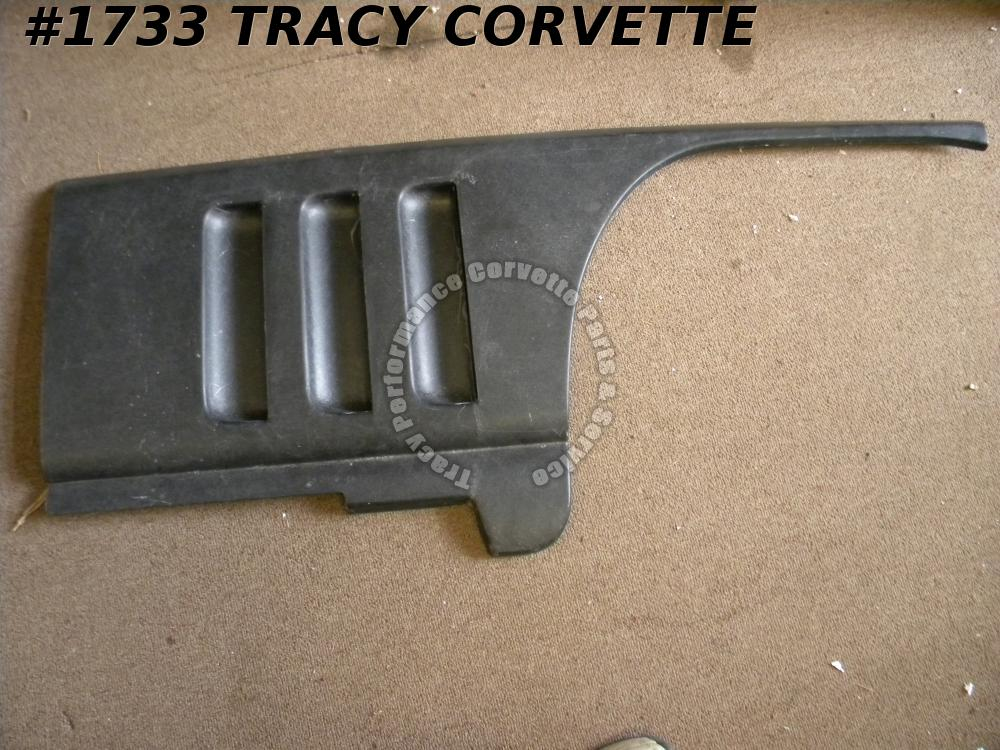 1965-1966 Corvette 3857526 NOS Dark Gray RH Louver Fender Match Die Molded Panel