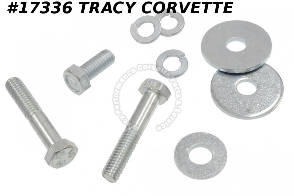1966-1967 Corvette Fan Shroud Bracket Bolt Set - 327 / 427 Top And Washer