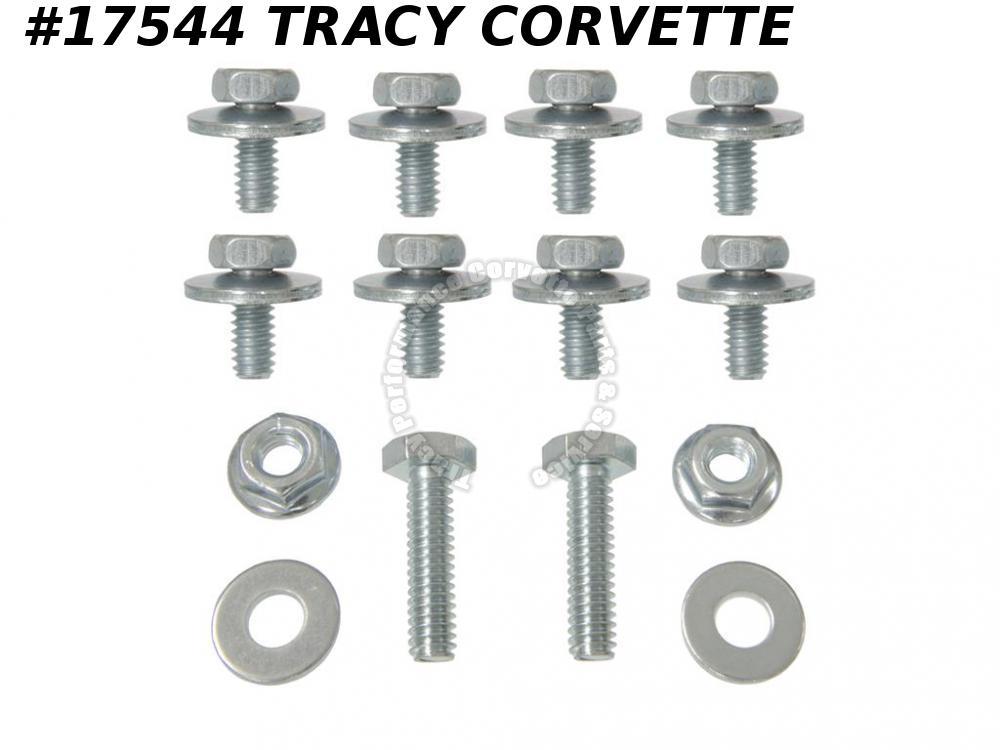 1963-1973 Corvette Rear Exhaust Filler Panel Mounting Bolts 3856691 w/ Nuts  Kit