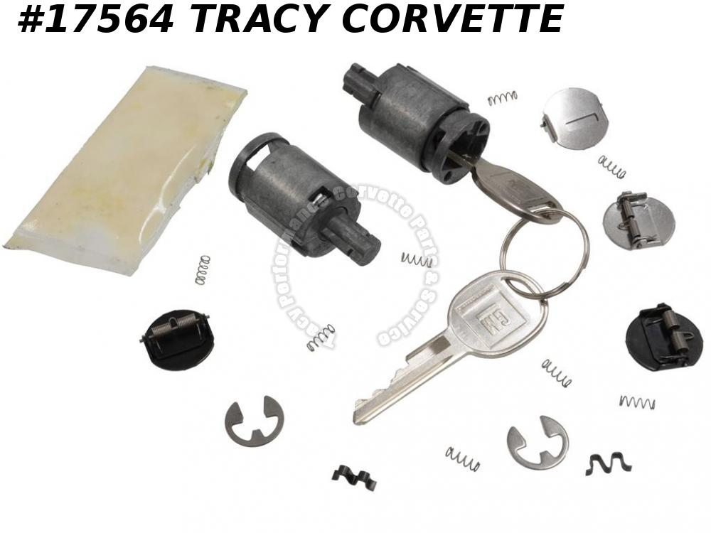 1984-1996 Corvette Door Lock - with Key   Pair