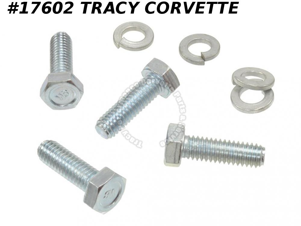 1963-1967 Corvette Radiator Support Side Bolt Set With 120229 Lockwasher